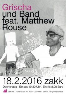 Grischa&Band feat. Matthew Rouse live im ZAKK club